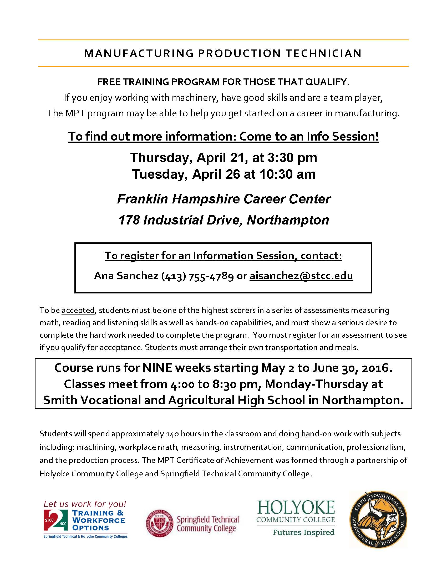 MPT Flyer - May 2 Start Date