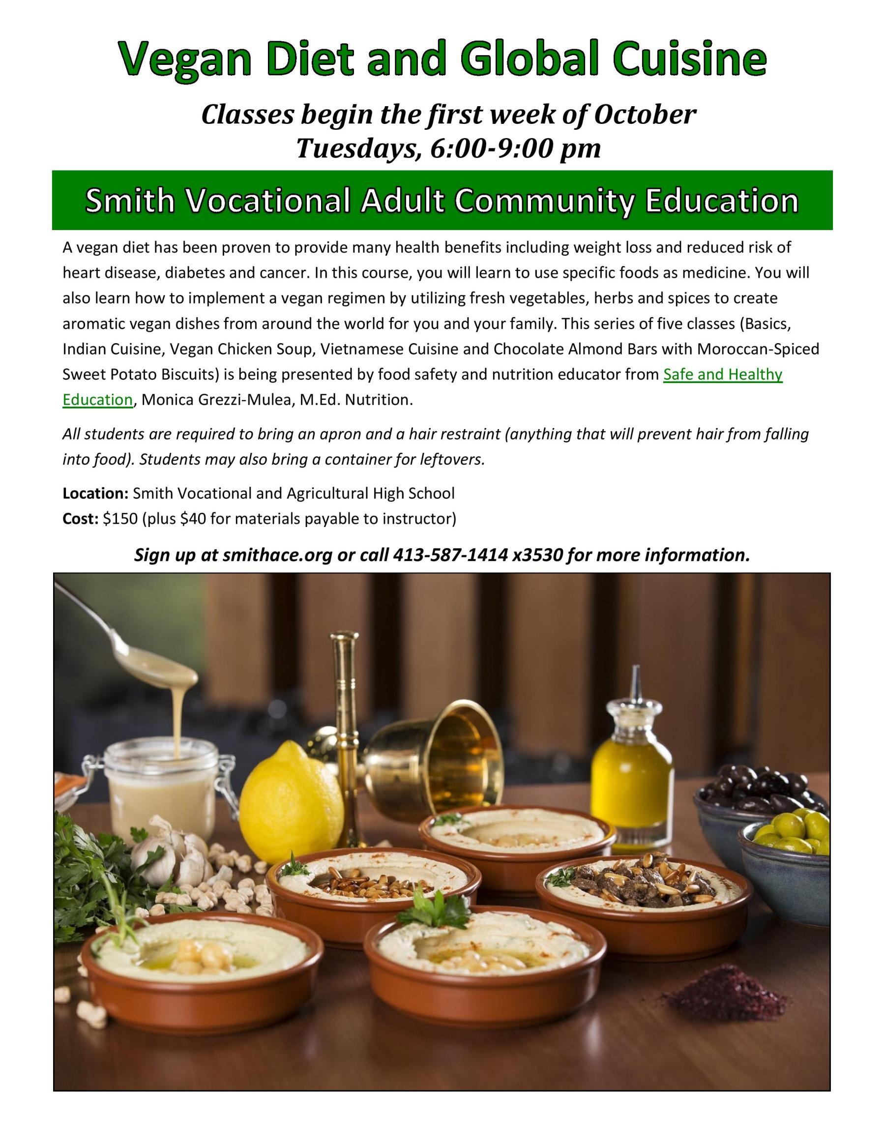 Vegan Diet and Global Cuisine Poster